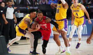NBA – Damian Lillard réagit à la défense unique des Lakers sur lui