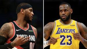 NBA – Les stats de LeBron et Melo… la seule fois où ils se sont affrontés en playoffs