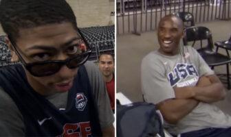 Quand Kobe affichait AD et son mono-sourcil devant les caméras