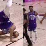 NBA – Gobert fait du breakdance en plein match, Mitchell mort de rire !