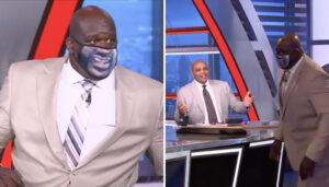 NBA – Shaq se pointe avec un masque WTF… et trolle Charles Barkley