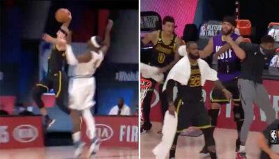 NBA – Alex Caruso pose un énorme dunk en transition, le banc des Lakers surexcité