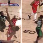 NBA – Jaylen Brown explose OG Anunoby sur un gros poster !