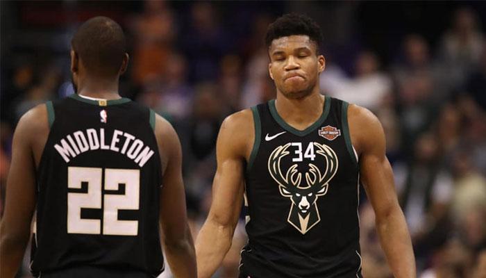 Khris Middleton et Giannis Antetokounmpo dépités NBA