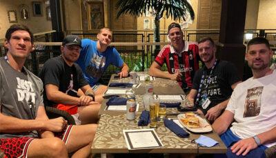 NBA – La « folle nuit » de Luka, Dragic, Boban and co après leur photo buzz