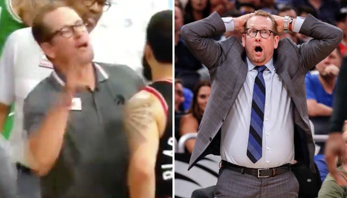 Nick Nurse s'est légèrement emporté ors de l'altercation entre Marcus Smart et ses joueurs des Raptors NBA