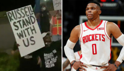 NBA – Un bus de la ligue pris à partie, Westbrook interpellé par des manifestants