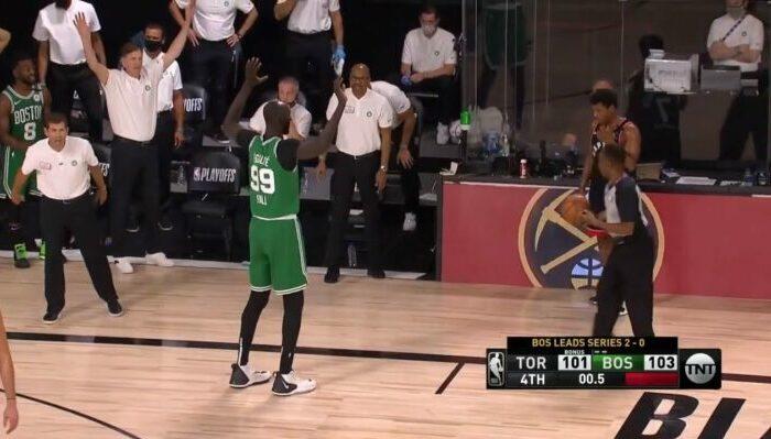 Tacko Fall sur la remise en jeu victorieuse de Kyle Lowry et des Celtics NBA