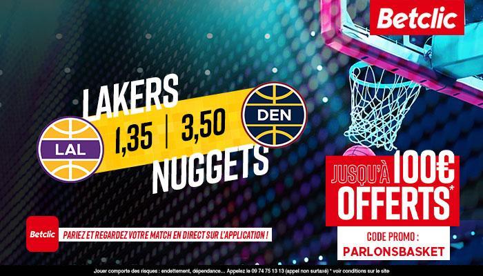 Les Nuggets ont le dessus face aux Lakers