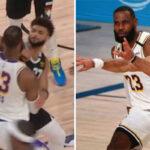 NBA – LeBron accusé de flop après un coup de coude de Jamal Murray
