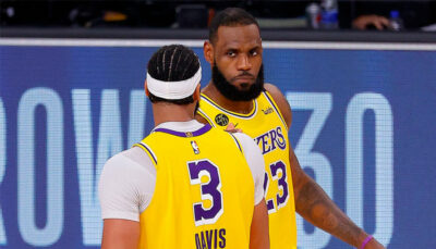 LeBron James et Anthony Davis NBA