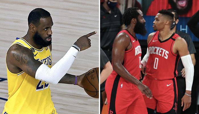 NBA - LeBron Jame smet en garde son équipe sur le duo Harden/Westbrook