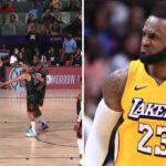 NBA – Après avoir pris un ballon dans la tête, LeBron à deux doigts d'en découdre !