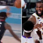 NBA – L'incroyable no-look pass de LeBron James pour Alex Caruso