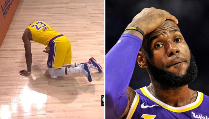 La grosse frayeur de LeBron James contre les Nuggets NBA