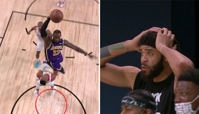 Le poster de LeBron James sur Russell Westbrook et la réaction de JaVale McGee NBA