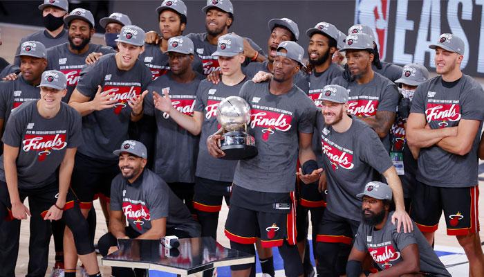 Miami célèbre son titre de champion de la conférence Est NBA