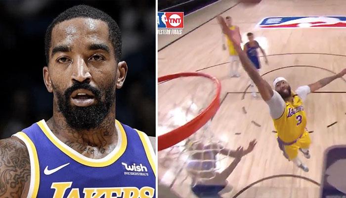 La réaction hilarante de JR Smith après un gros dunk de Anthony Davis !