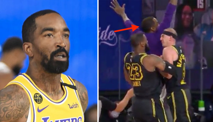 JR Smith epic fail lakers LeBron james alex caruso