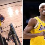 NBA – Le panier fou de Rajon Rondo… derrière la planche !