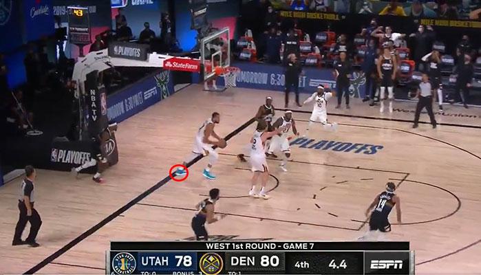 L'erreur de Rudy Gobert à la fin du Game 7 entre le Jazz et les Nuggets que les arbitres n'ont pas vu