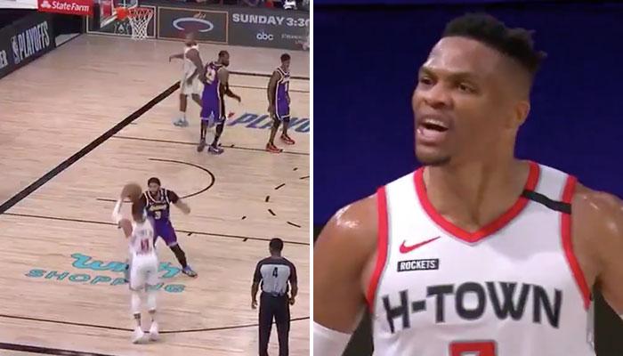 NBA - Westbrook tire sur la tête de AD... et trash-talke tout le monde !