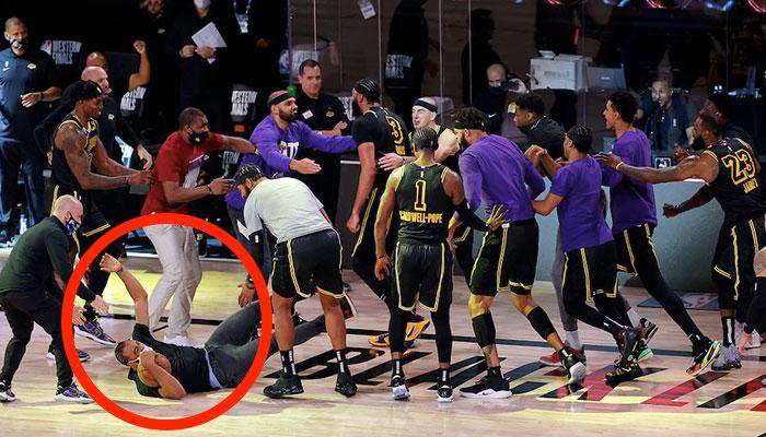 NBA - Talen Horton-Tucker réagit au coup de genou de Davis... et parle de LeBron