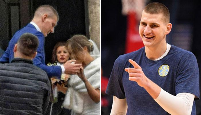 Nikola Jokic et sa femme Natalija Macesic NBA