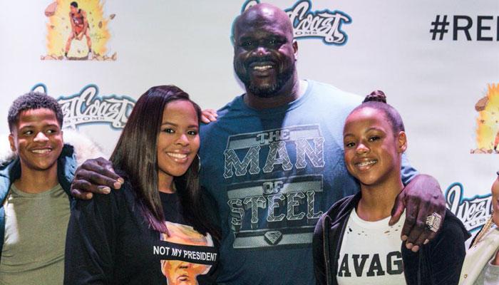 Shaquille O'Neal et ses filles Amira et Me'arah NBA