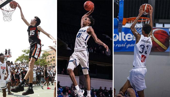 Chet Holmgren, Emoni Bates, et Victor Wembanyama NBA Draft 2022