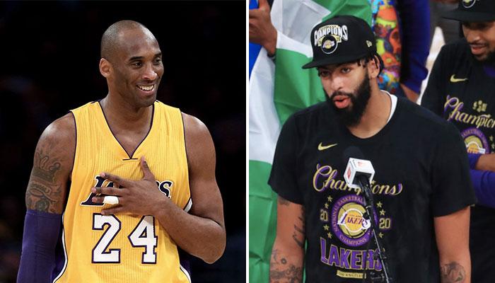 L'hommage d'Anthony Davis à Kobe Bryant suite au sacre des Los Angeles Lakers à l'occasion des Finales NBA 2020