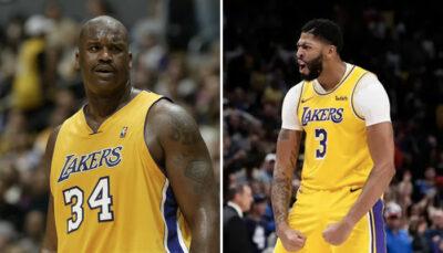 NBA – Shaquille O'Neal dévoile la ligne de stats qu'il ferait contre Anthony Davis