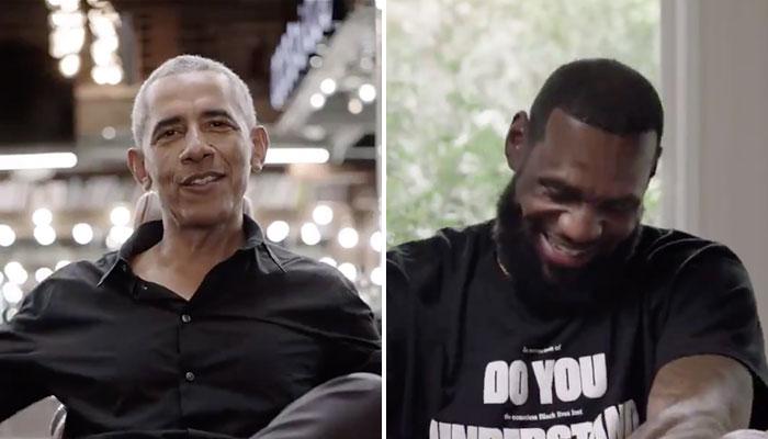L'ancien président des États-Unis d'Amérique, Barack Obama, amuse la superstar NBA des Los Angeles Lakers, LeBron James