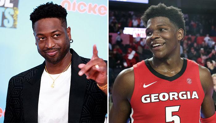 La légende NBA du Miami Heat, Dwyane Wade, ainsi que le jeune prospect issu de l'université de Georgia, Anthony Edwards
