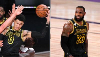 NBA – La réaction épique de LeBron au gros raté de Kyle Kuzma