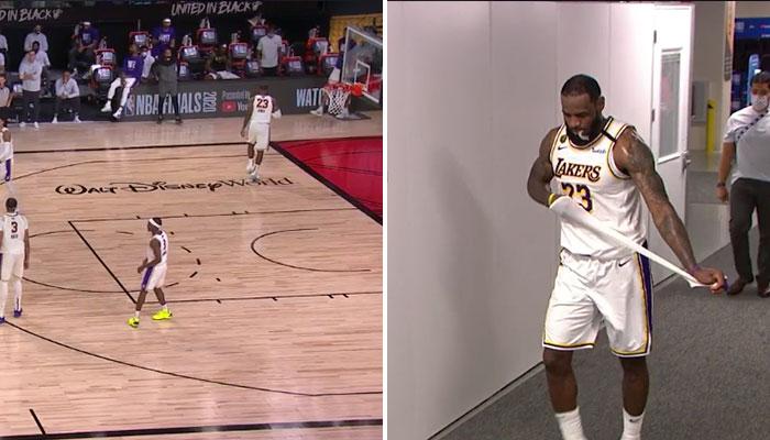 LeBron rage-quit le terrain à 10 secondes de la fin NBA