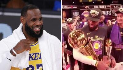 NBA – Ce que LeBron James a dit… au trophée Larry O'Brien