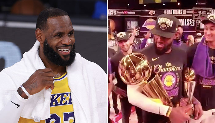 NBA - Ce que LeBron James a dit... au trophée Larry O'Brien