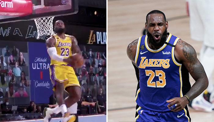 NBA - Le reverse dunk monstrueux de LeBron James... qui ne compte pas