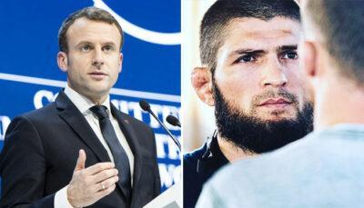 Khabib Nurmagomedov Emmanuel Macron menace