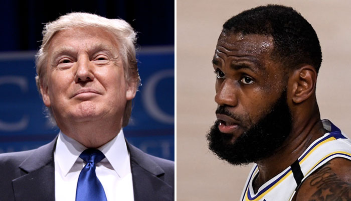 LeBron James NBA face à Donald Trump