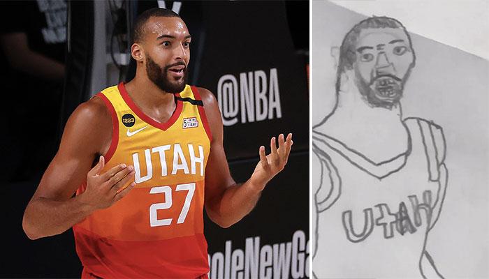 NBA - Rudy Gobert encore trollé pour l'horrible dessin viral de lui