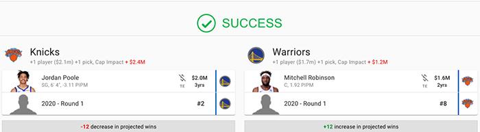 Le trade envisagé par 2 insiders de The Athletic entre les Knicks et les Warriors