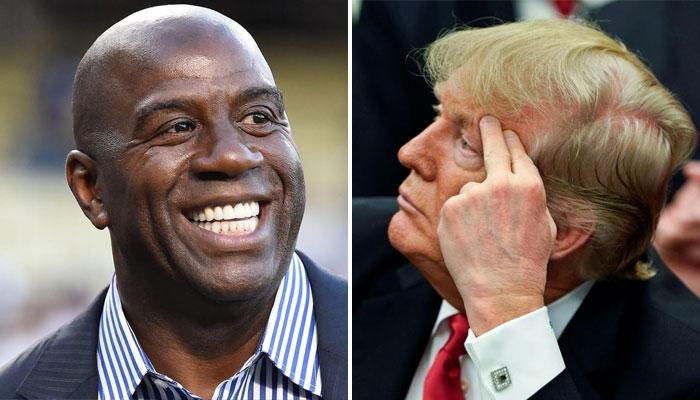 Magic Johnson s'est réjouis de la défaite de Donald Trump NBA