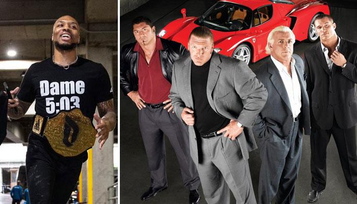 Damian Lillard NBA a rendu hommage Ric Flair de la WWE