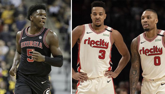 Le cookie des Minnesota Timberwolves, Anthony Edwards, 1st pick de la Draft NBA 2020, ainsi que les deux arrières des Portland Trail Blazers, C.J. McCollum et Damian Lillard