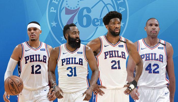 Les superstars NBA Tobias Harris, James Harden, Joel Embiid et Al Horford pourraient composer un big-4 destructeur sous le maillot des Philadelphia 76ers