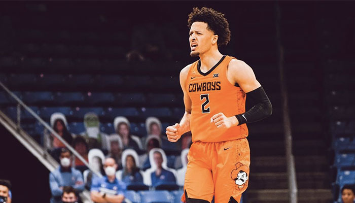 Le probable first pick de la Draft NBA 2021, Cade Cunningham, sous les couleurs de l'équipe de NCAA des Oklahoma State Cowboys