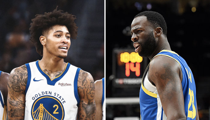 Les deux joueurs NBA des Golden State Warriors, Kelly Oubre Jr. et Draymond Green