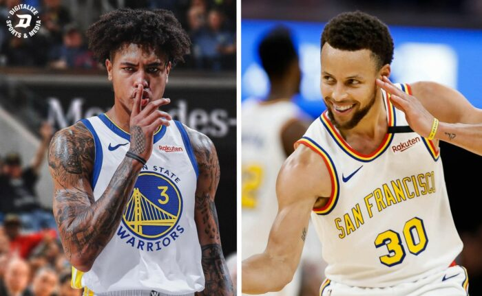 Kelly Oubre et Stephen Curry